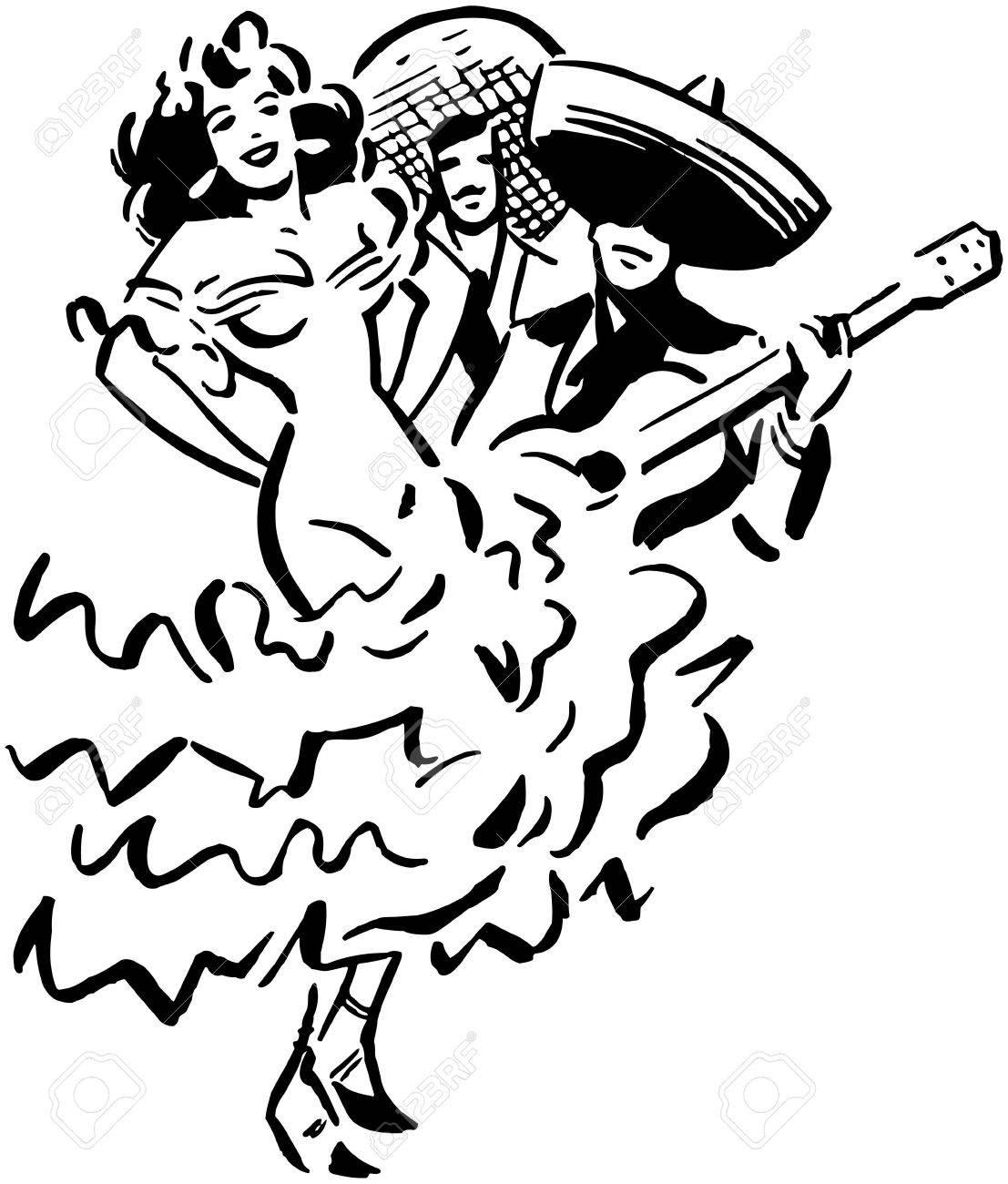 Mariachi Sombrero Drawing