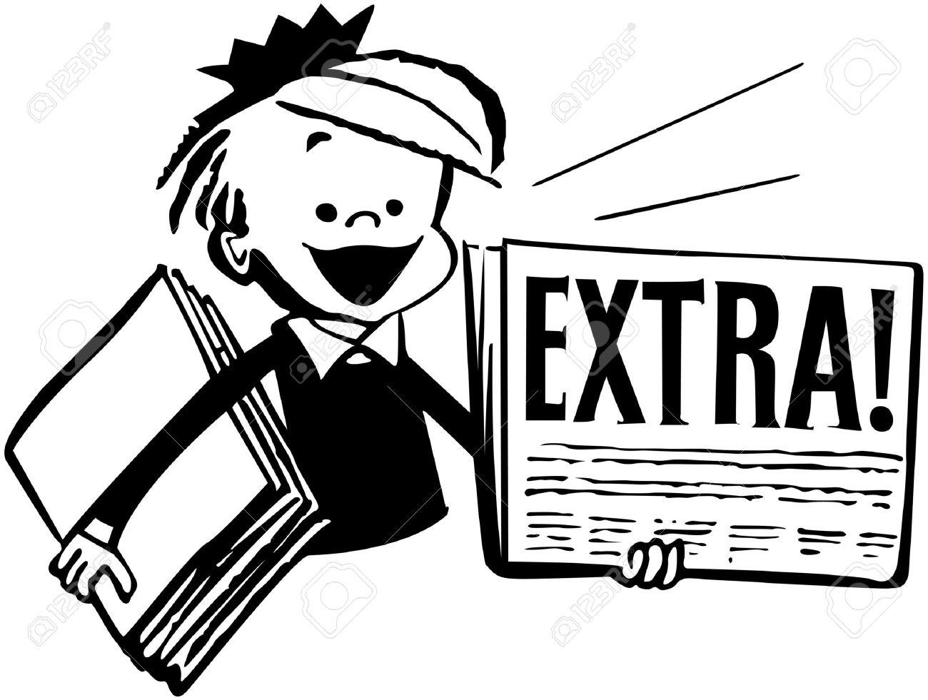 Image result for newspaper boy clip art images