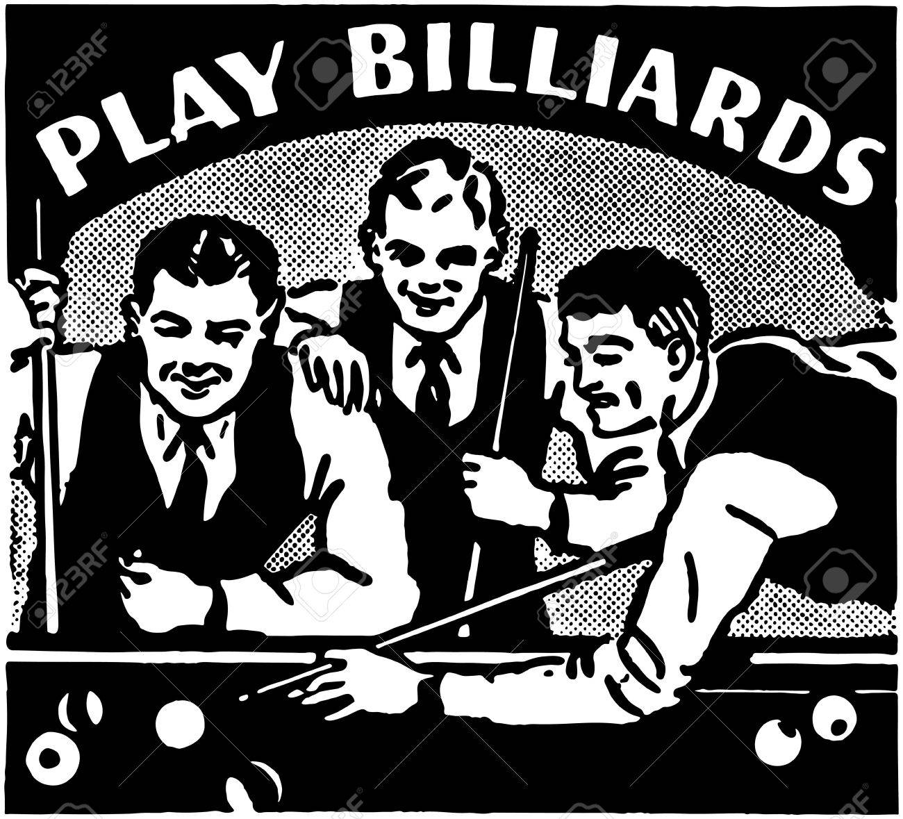 Play Billiards Banque d'images - 28343624