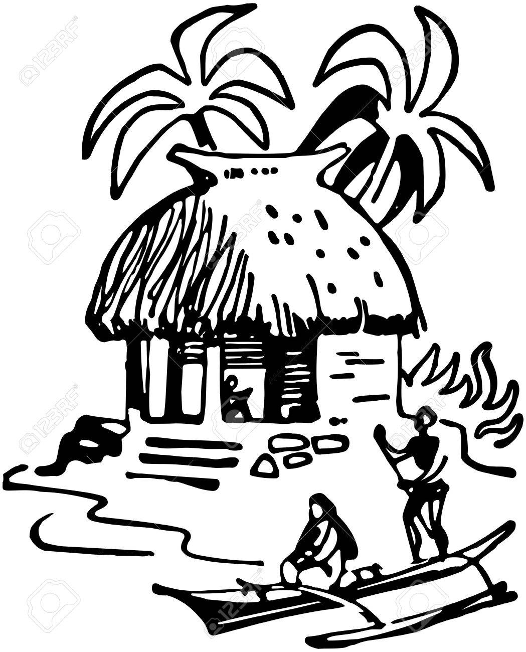 Tiki Hut Royalty Free Cliparts, Vectors, And Stock Illustration ...