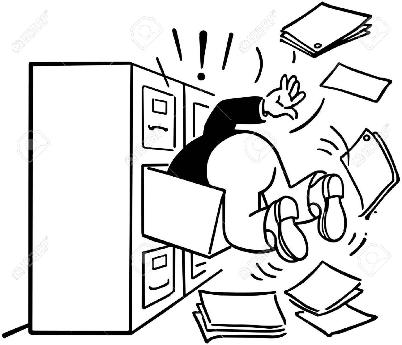Searching The Filing Cabinet - 28345248