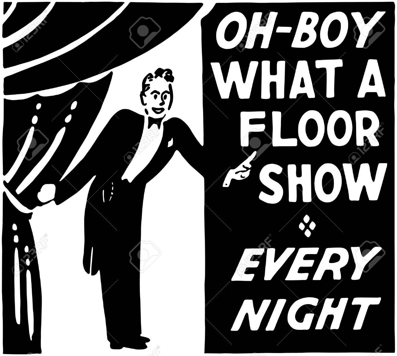 What A Floor Show Stock Vector - 28347171