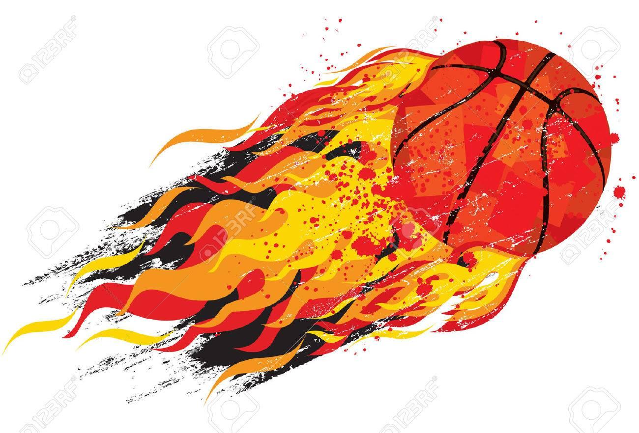Flaming basketball - 36965195