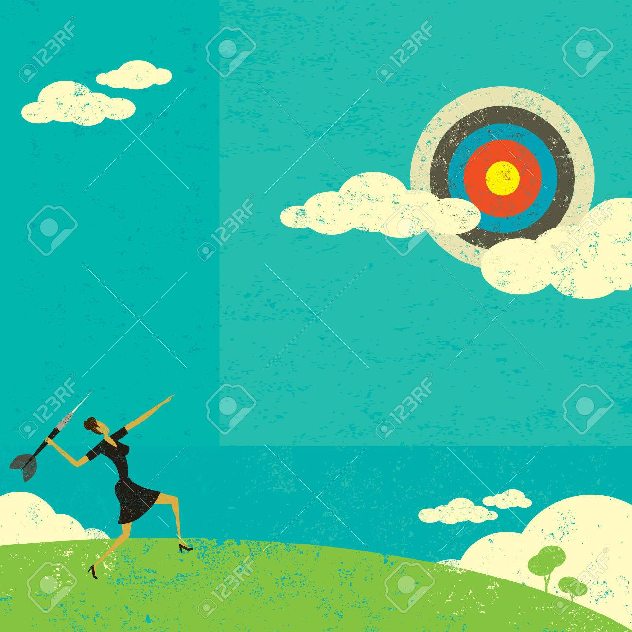Aiming for a high target - 52961686