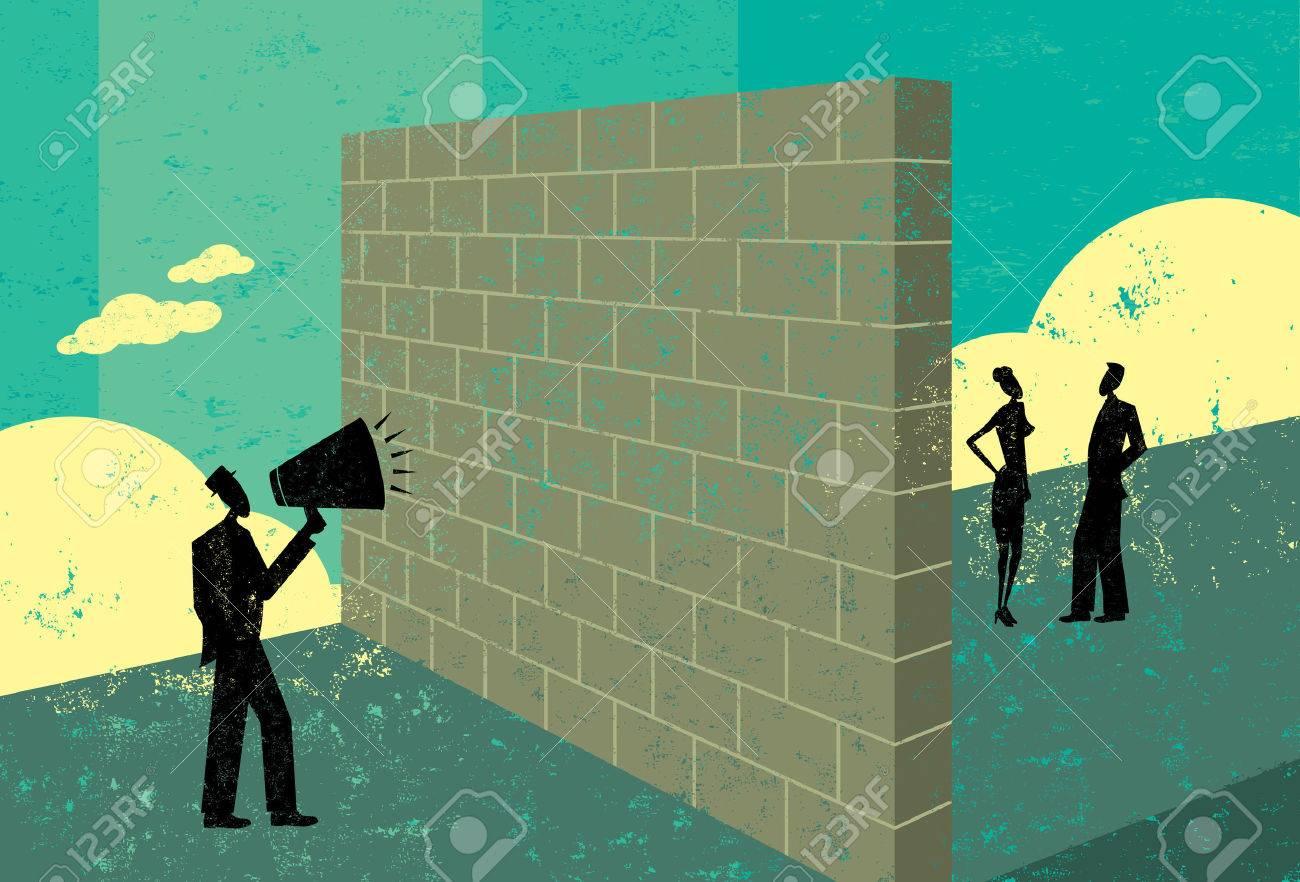 Shouting at a brick wall - 53540565