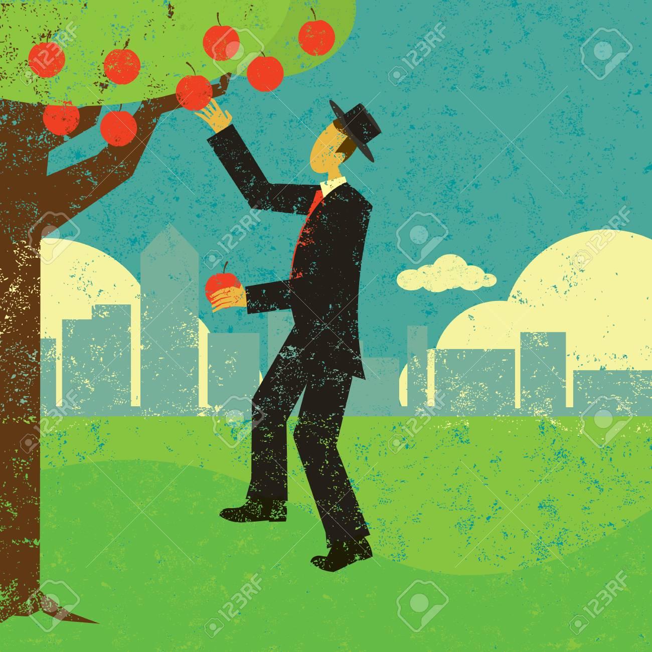 Picking the low hanging fruit banner design - 100999281