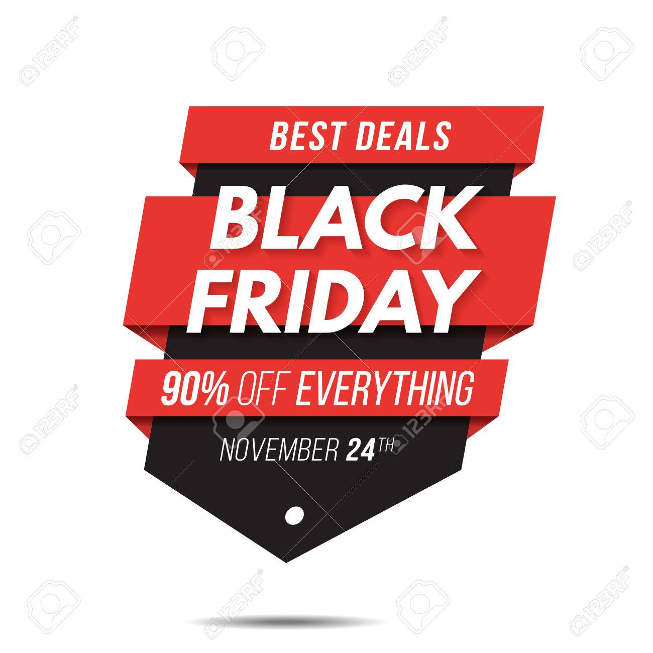Black friday label price tag sale banner badge template sticker