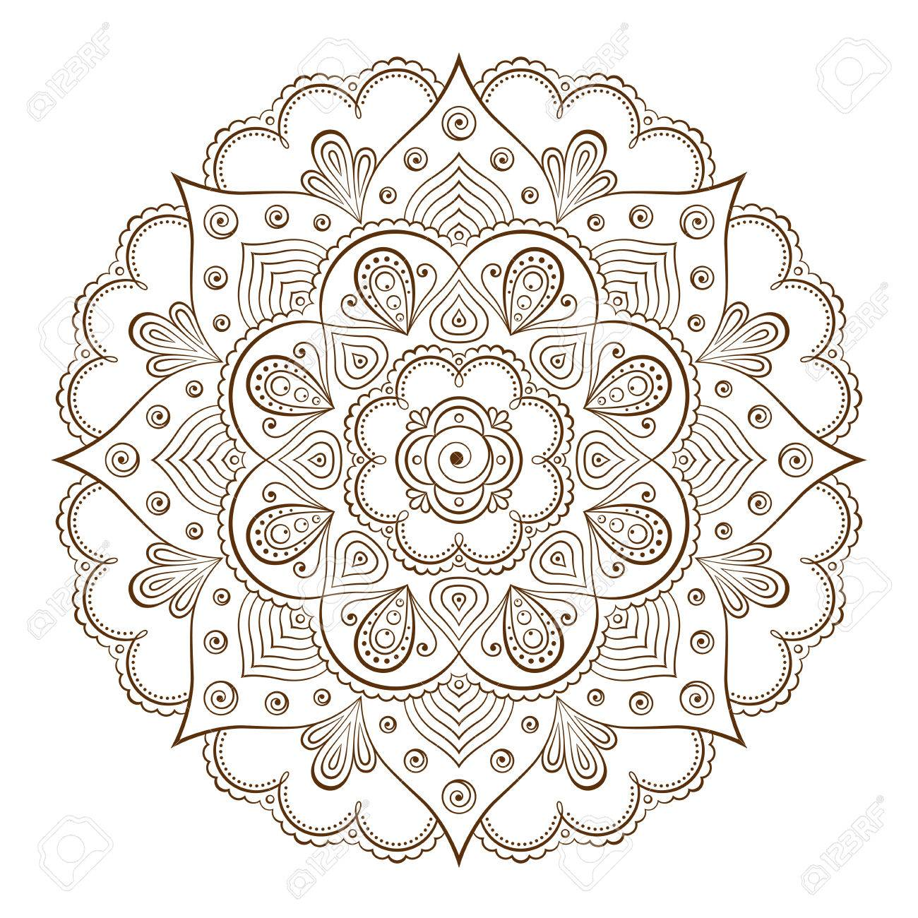 Background Or Tattoo Frames Based On Traditional Asian Ornaments ...