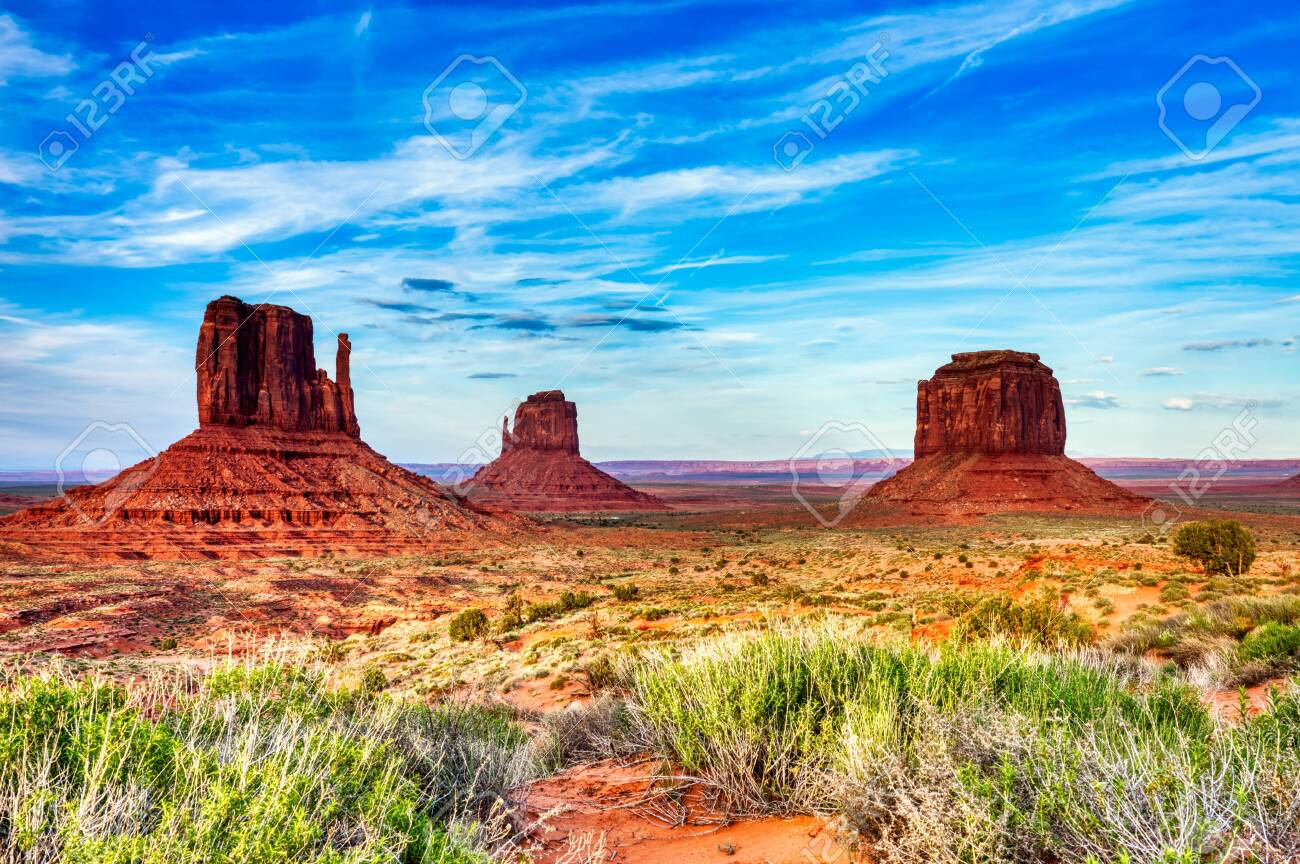 Monument Valley on the Border between Arizona and Utah, United States - 130738221
