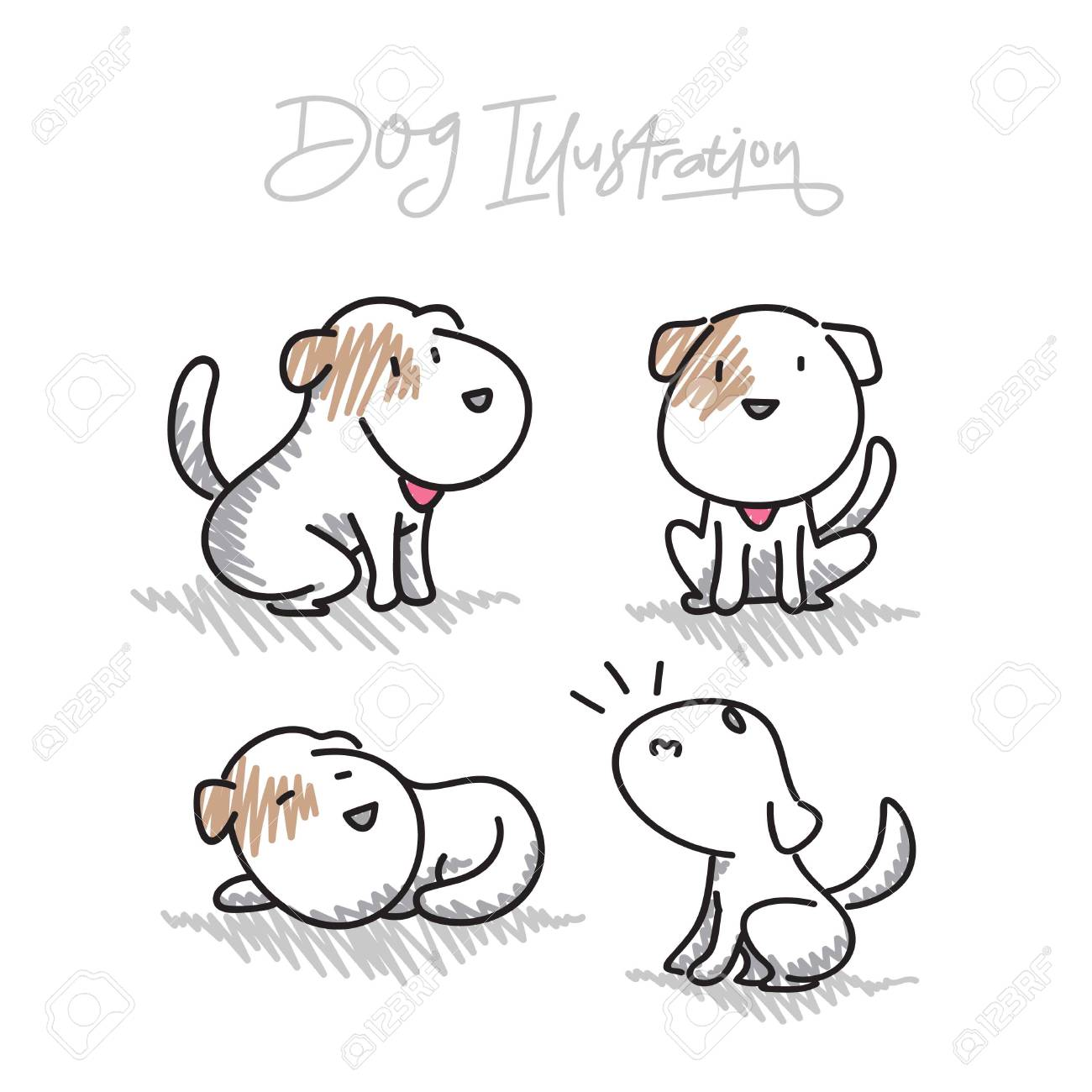 Hand Drawn Dog Vector Illustrations