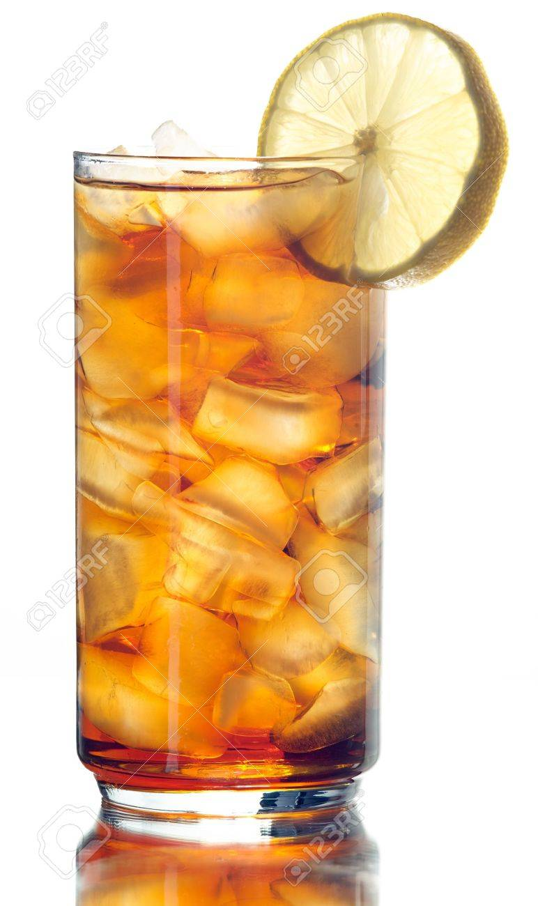 iced tea isolated on white Stock Photo - 12925203