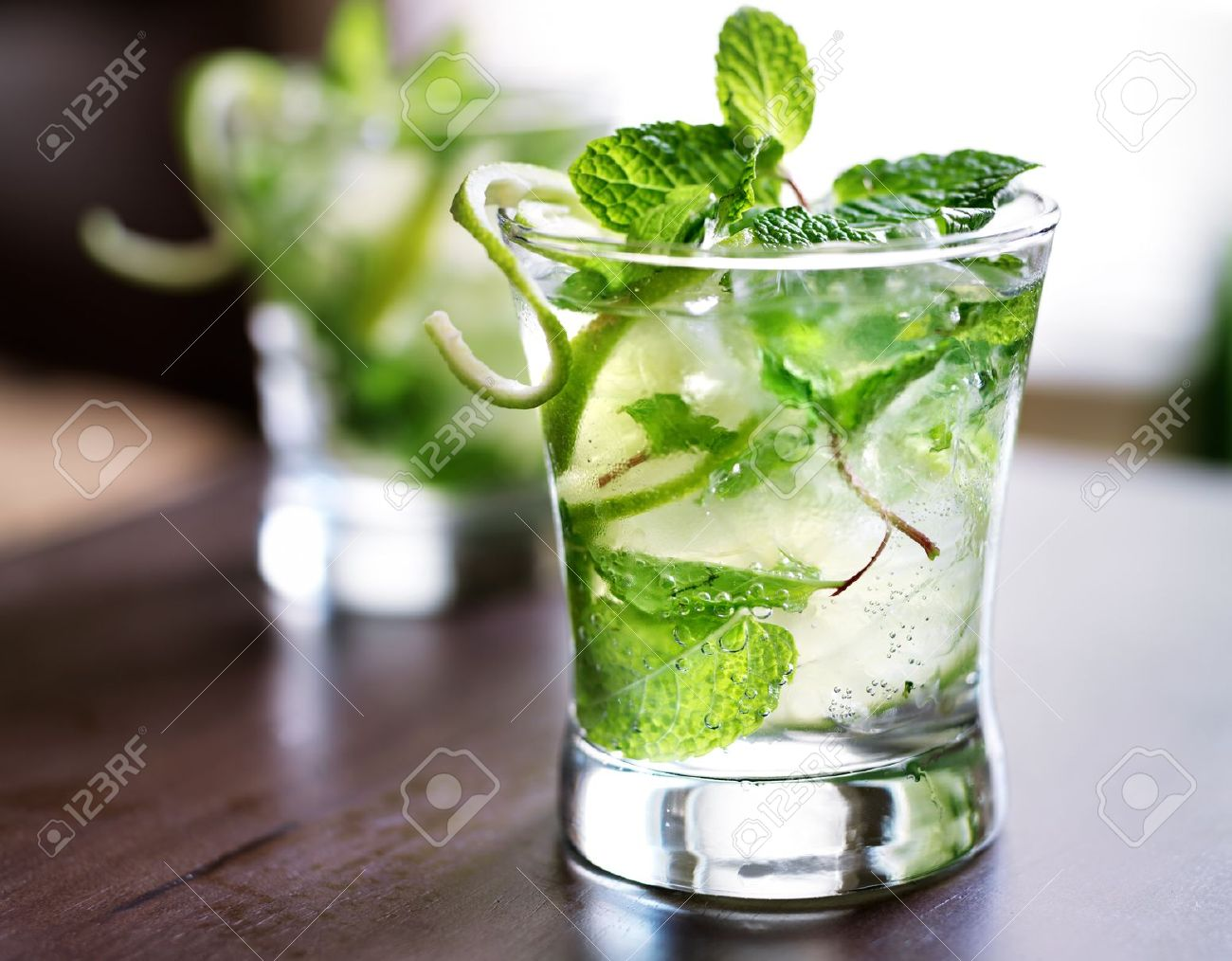 cocktail - two cold mojitos Stock Photo - 22457664