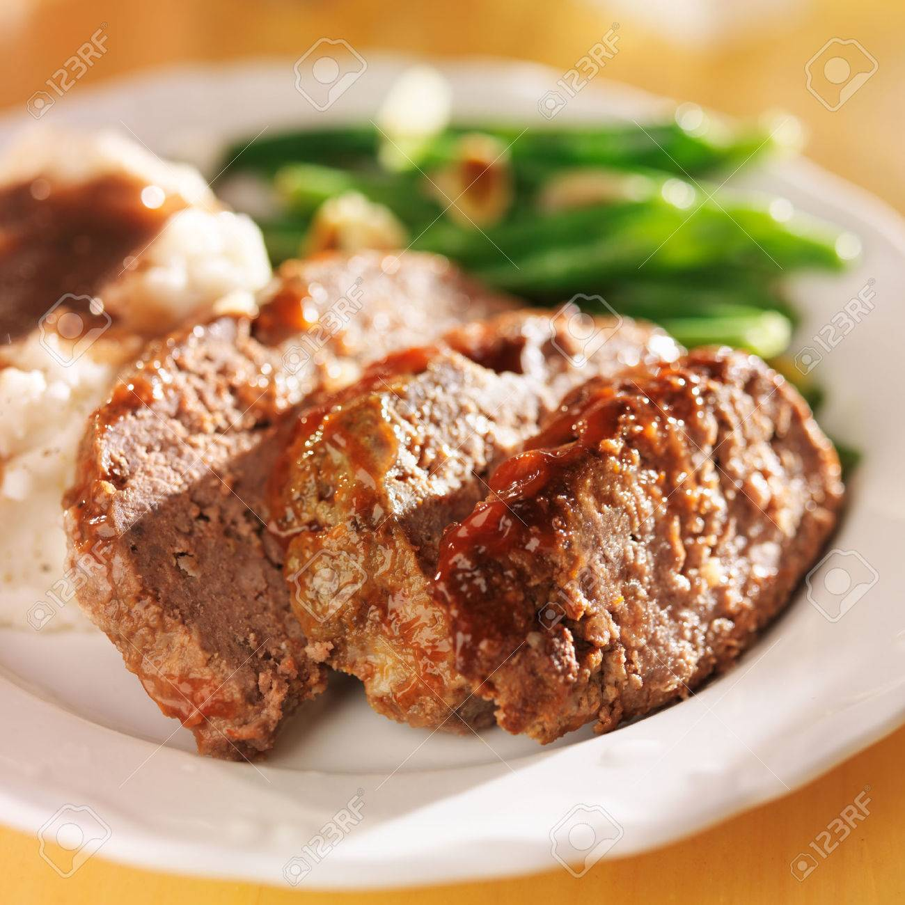 hearty meatloaf dinner with sides Stock Photo - 25857008