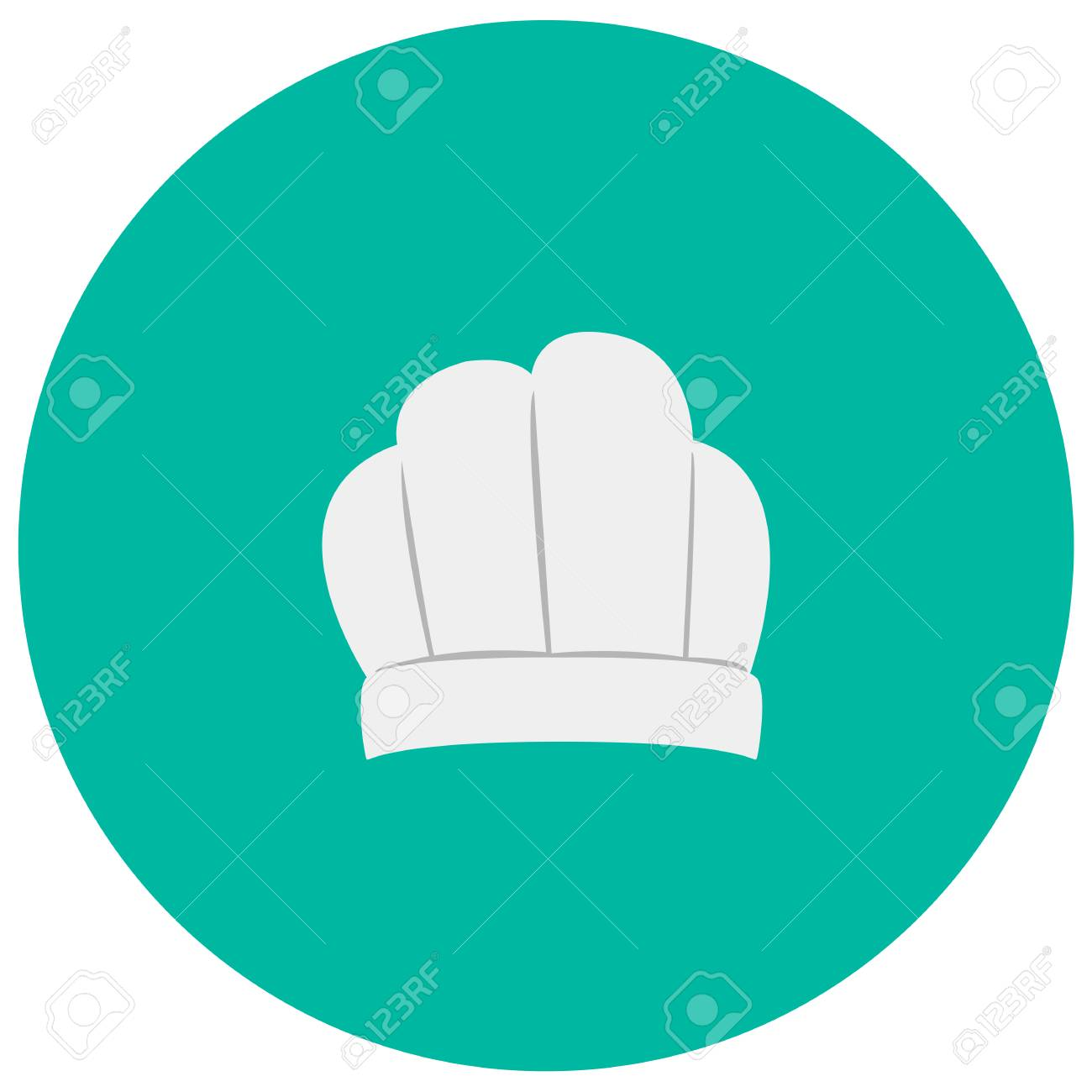 Chef Hat Cute Icon In Trendy Flat Style Isolated On Color Background ...