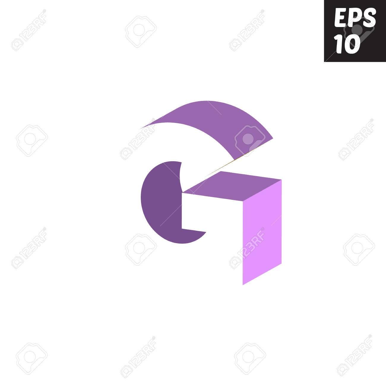 Initial Letter G Lowercase Logo Design Template Block Violet ...
