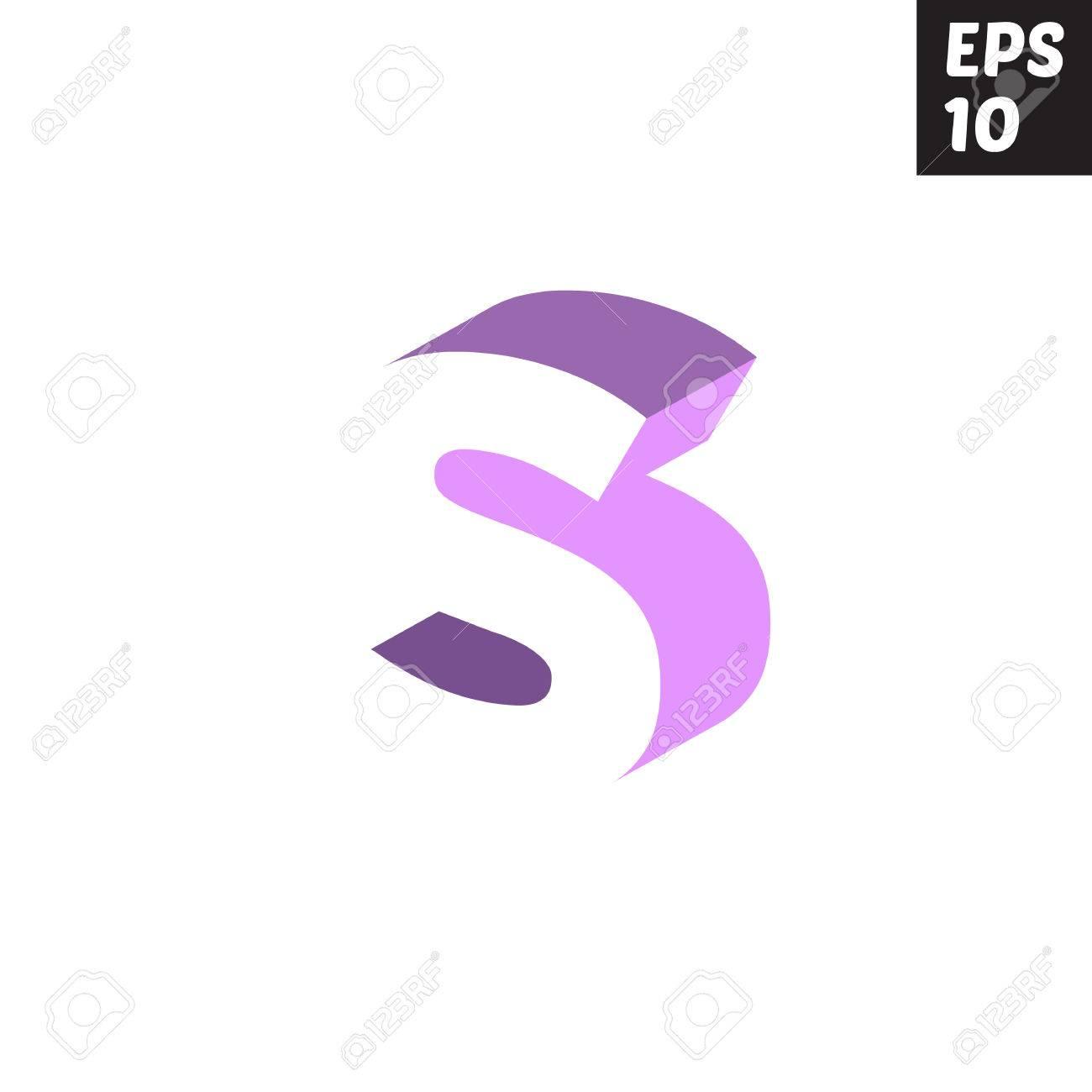 Initial Letter S Lowercase Logo Design Template Block Violet ...