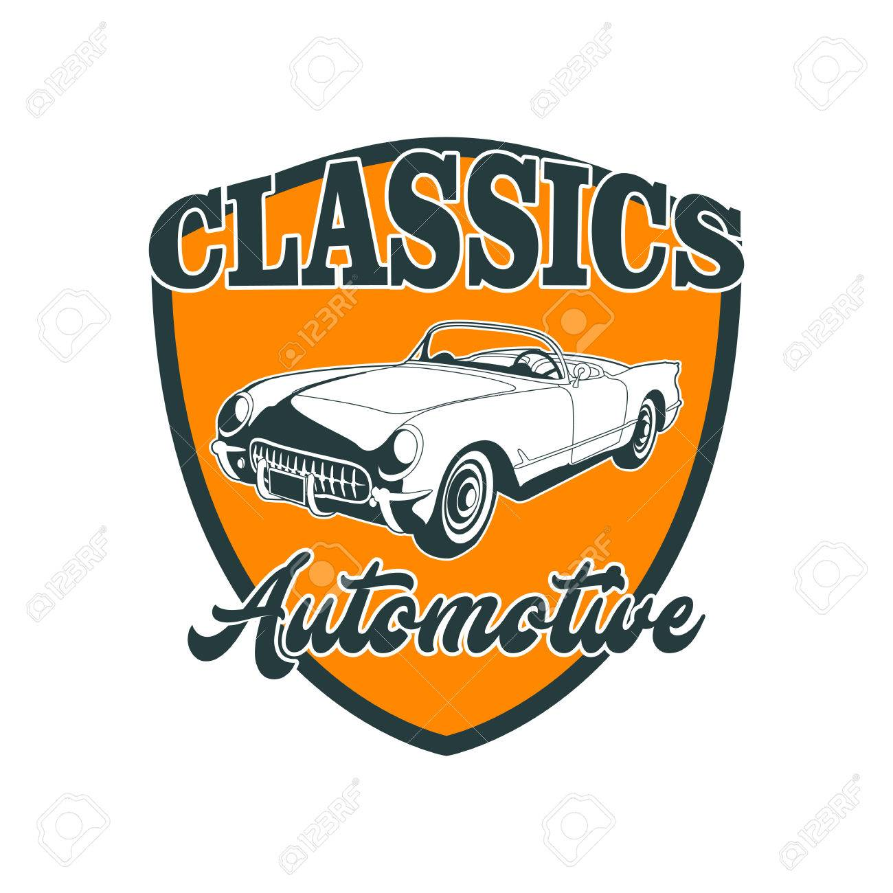 classic muscle car emblems high quality retro badge and vintage rh hu 123rf com Auto Mechanic Drawings Auto Mechanic Logo Clip Art