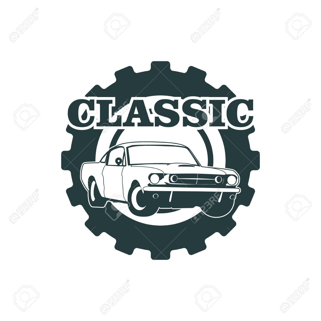 Classic Muscle Car Emblems High Quality Retro Badge And Vintage - Muscle car repair