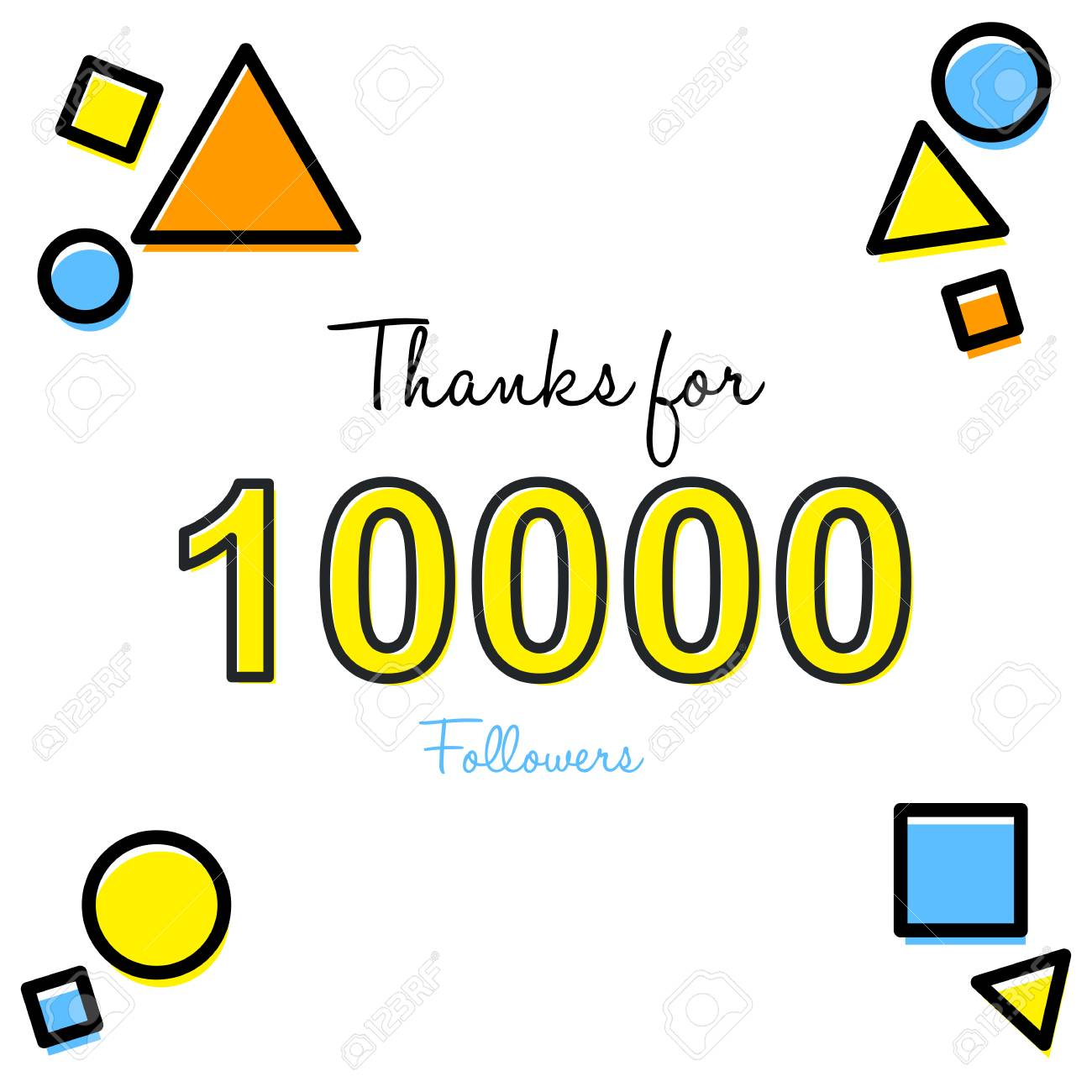 Thank you greeting card for social media followers vector thank you greeting card for social media followers vector illustration stock vector 92604750 m4hsunfo