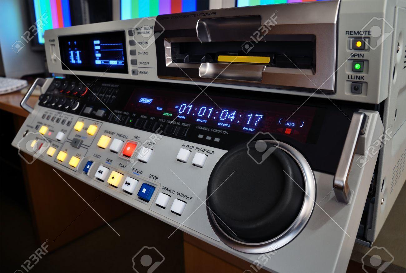 Professional video recorder in production studio. - 12072905