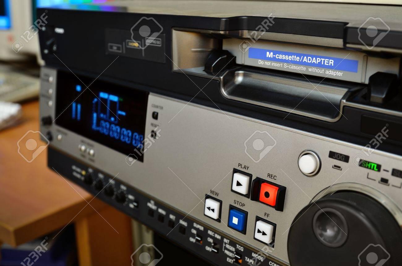 Video production studio Professional digital videocassette recorder - 12439431