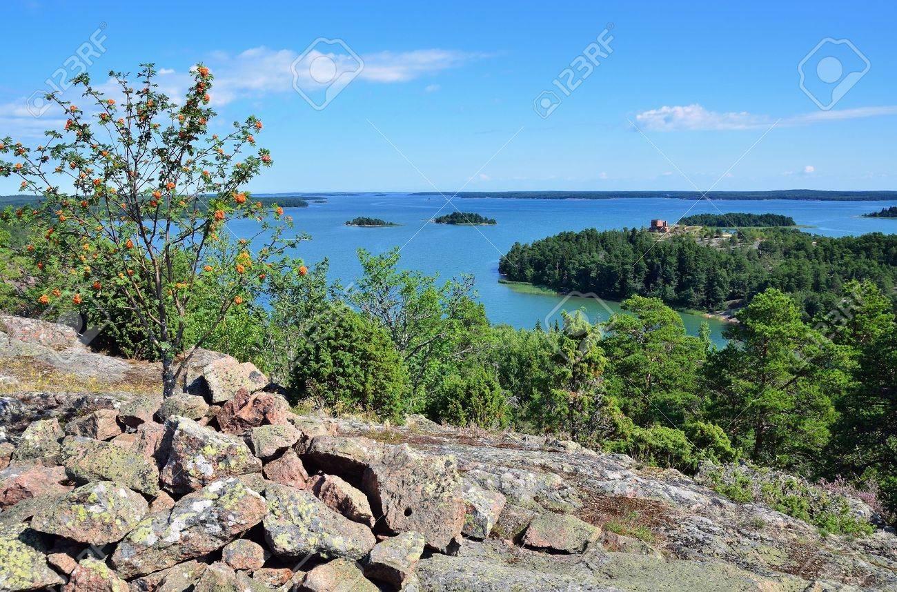 Summer scandinavian landscape Aland islands - 13058377