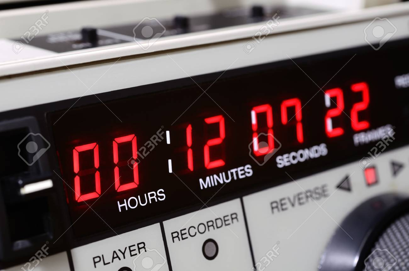 Professional video recorder. Time-code panel. - 33033863