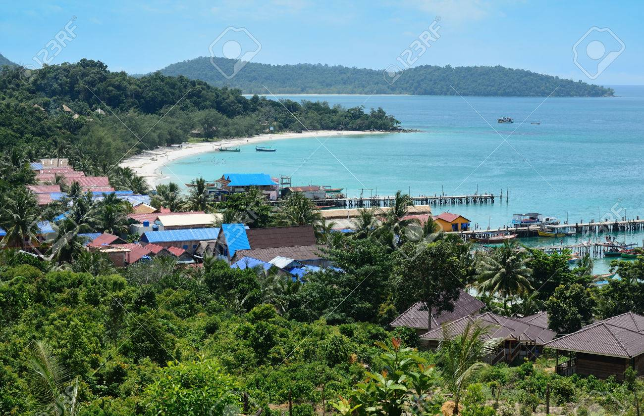 view of Koh Rong, tropical Island near Sihanoukville, Gulf of Thailand, Cambodia - 74620563
