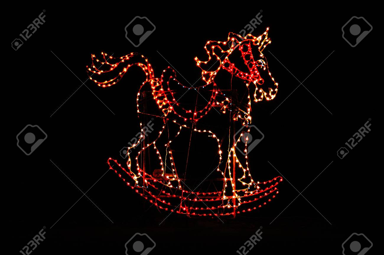 Christmas light display at a park in Southern Oregon Stock Photo - 14638572