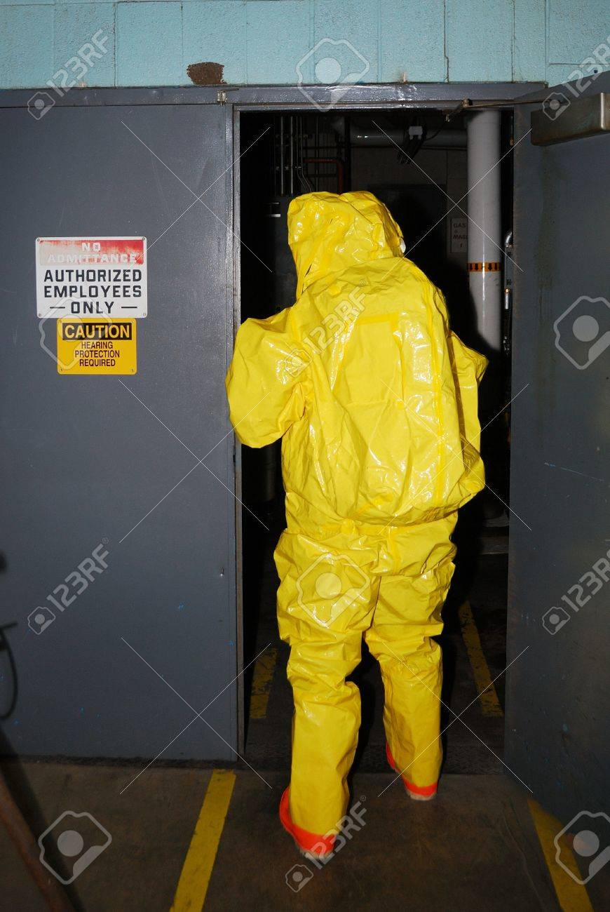 A level entry into an Ammonia environment during Haz Mat team training Stock Photo - 15560954