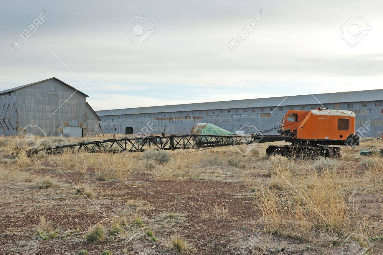 Old cable crain outside  Old mill site, Burns   Hines Oregon Stock Photo - 17435092