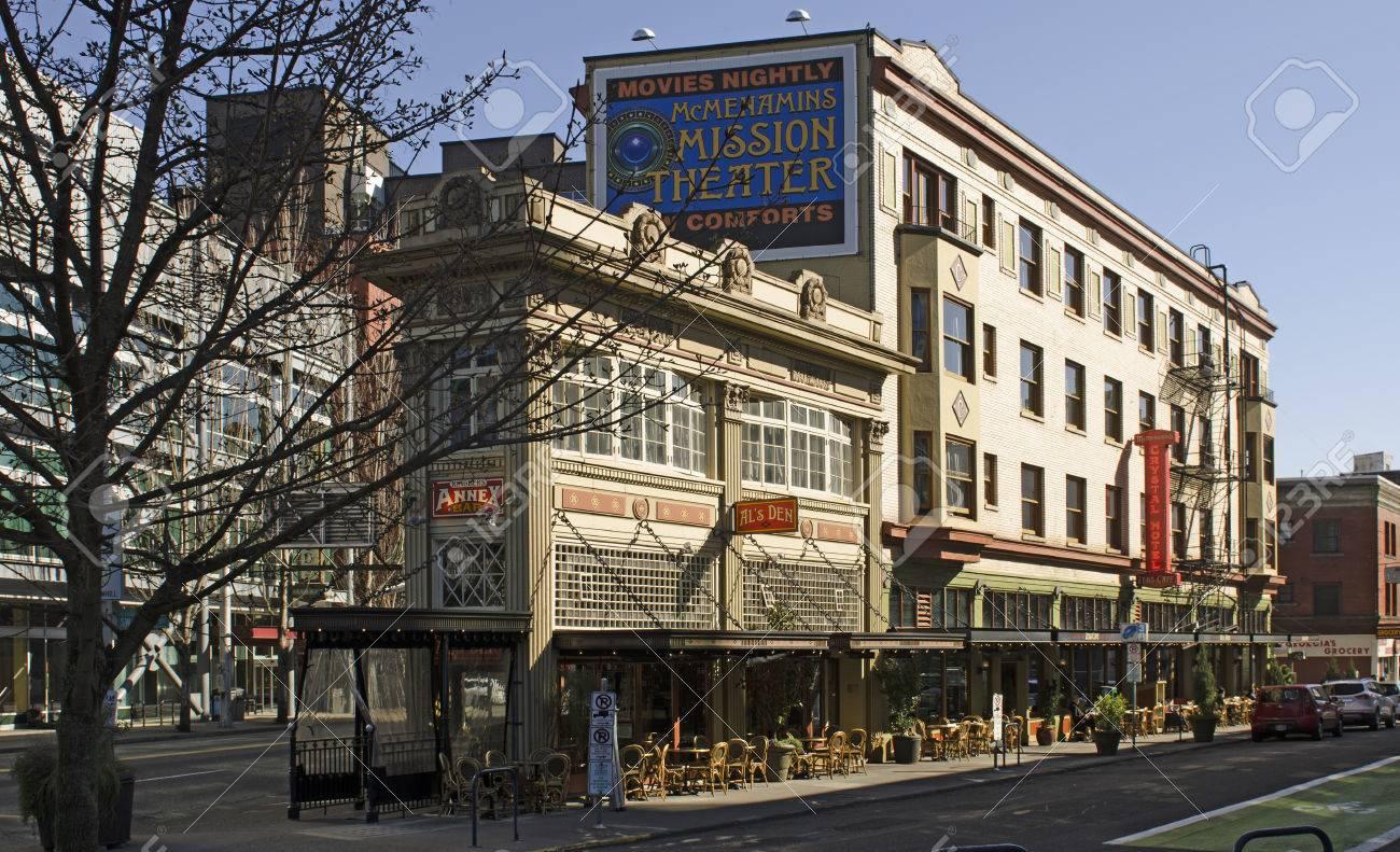 Wonderful Portland, OR, USA   March 7, 2015: McMenamins Crystal Hotel And Ballroom