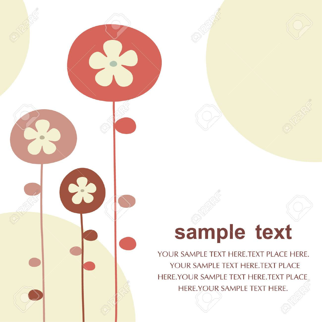 vector floral backgrounds design Stock Vector - 5119261
