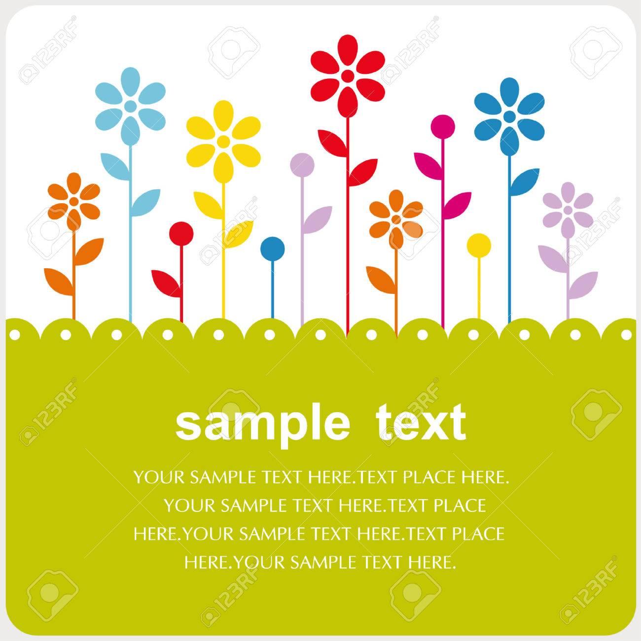 vector floral card design Stock Vector - 5440841