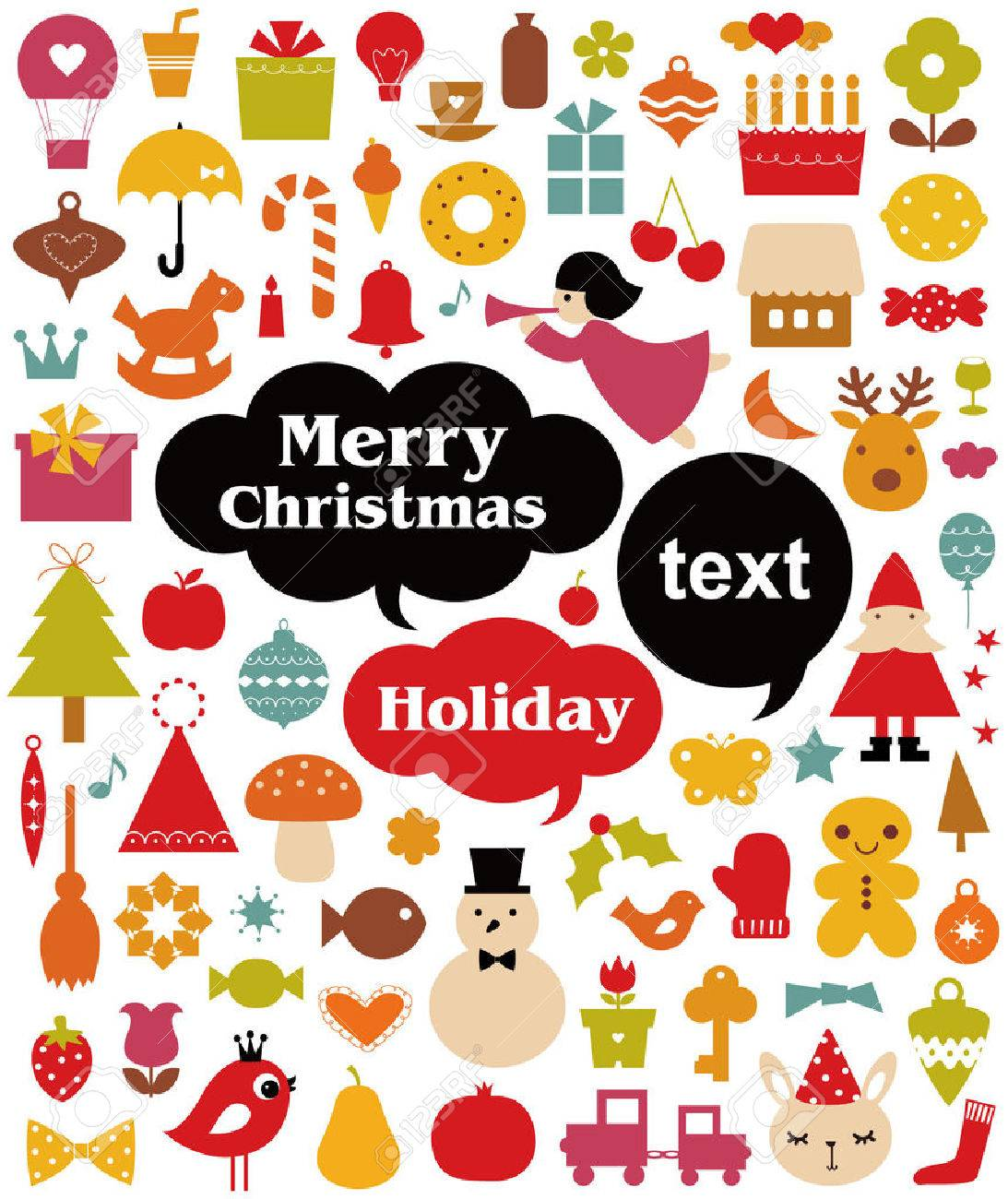 Vector illustration - set of christmas icons Stock Vector - 5440857