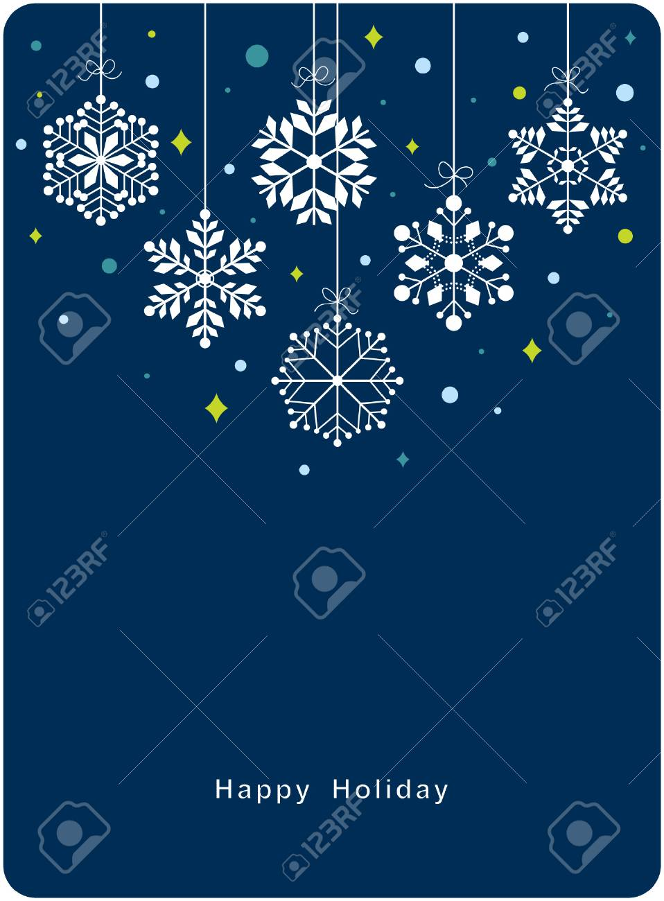 Vector set of snowflakes background Stock Vector - 6186514
