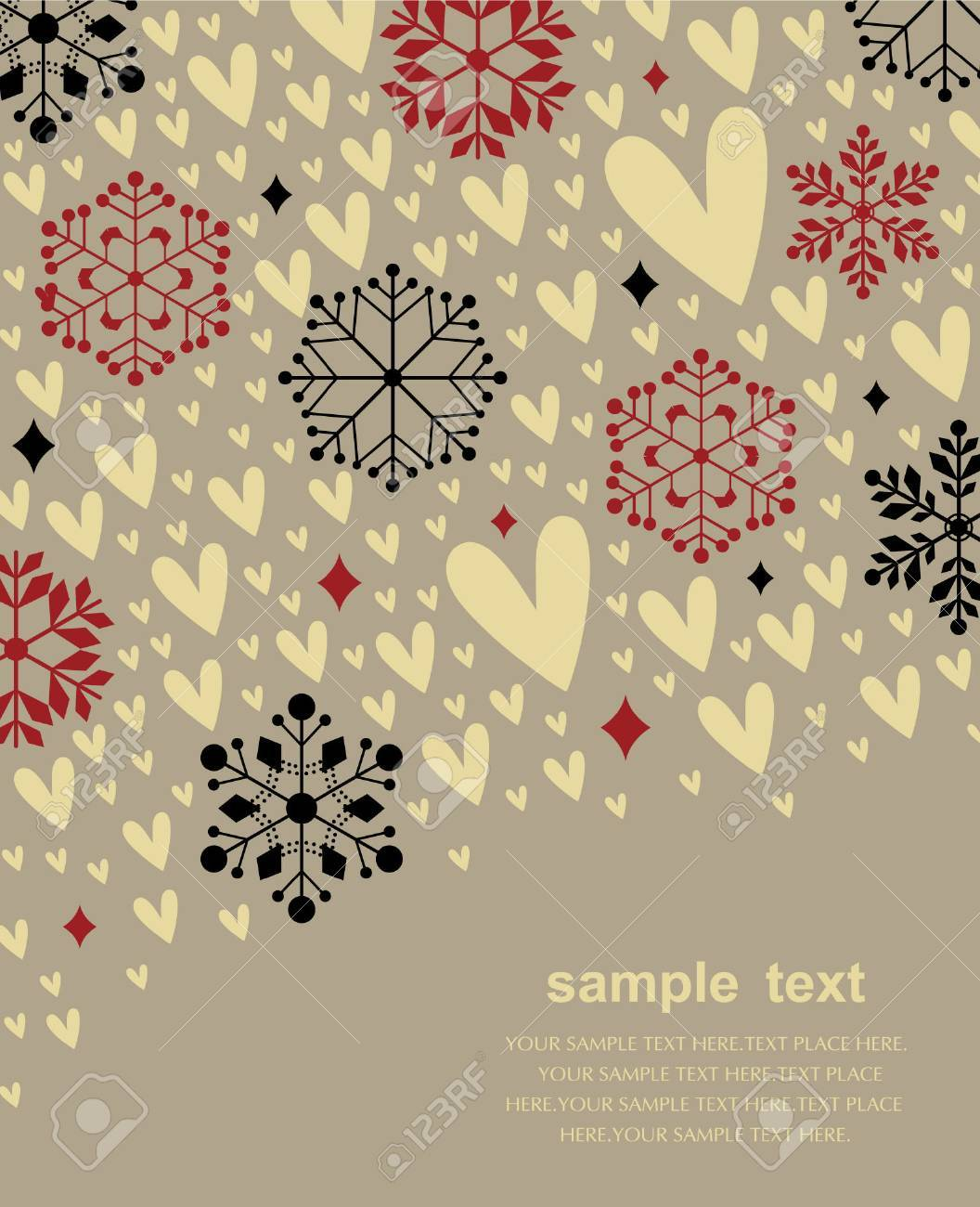 Vector set of snowflakes background Stock Vector - 6278524
