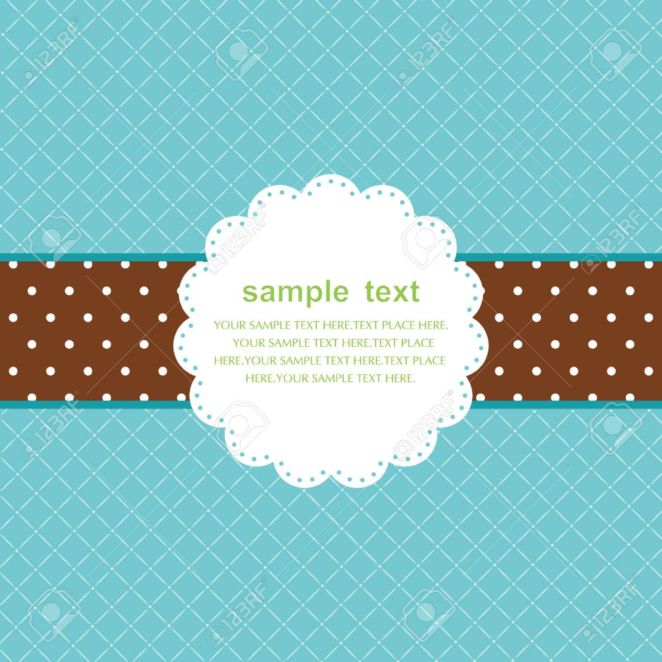 Template frame design for greeting card Stock Vector - 7536216
