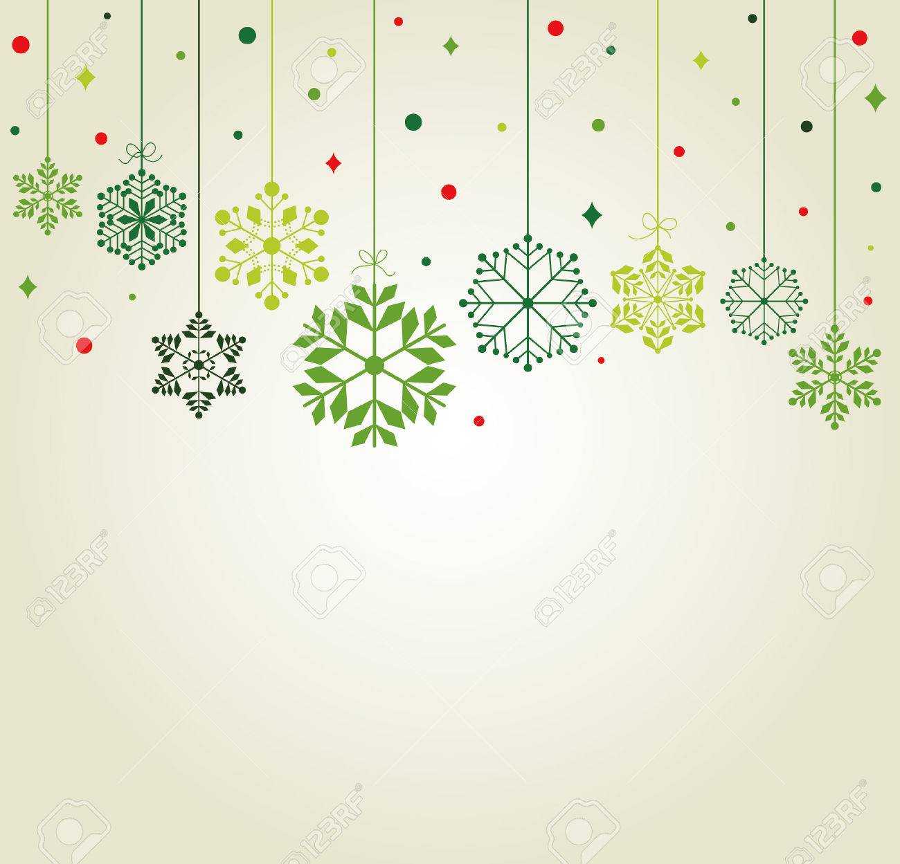 set of snowflakes background Stock Vector - 8223655