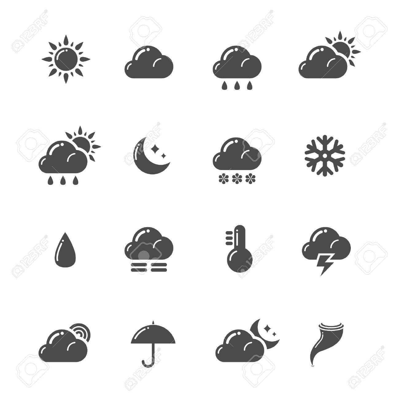 Weather icons Stock Vector - 9193086
