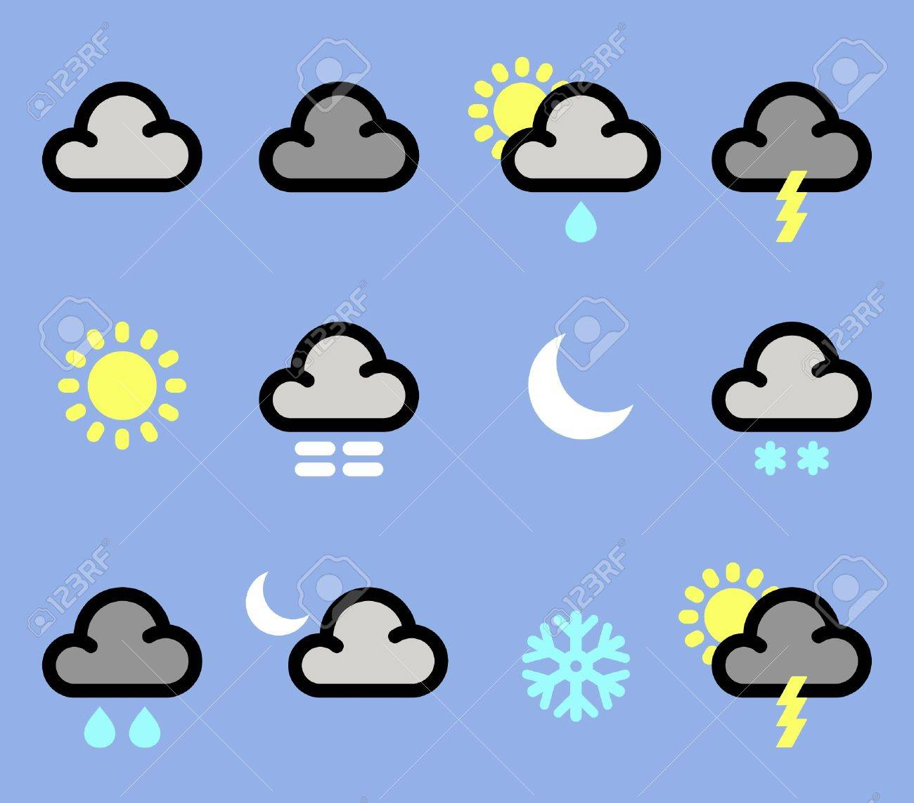 Weather icons Stock Vector - 9307311