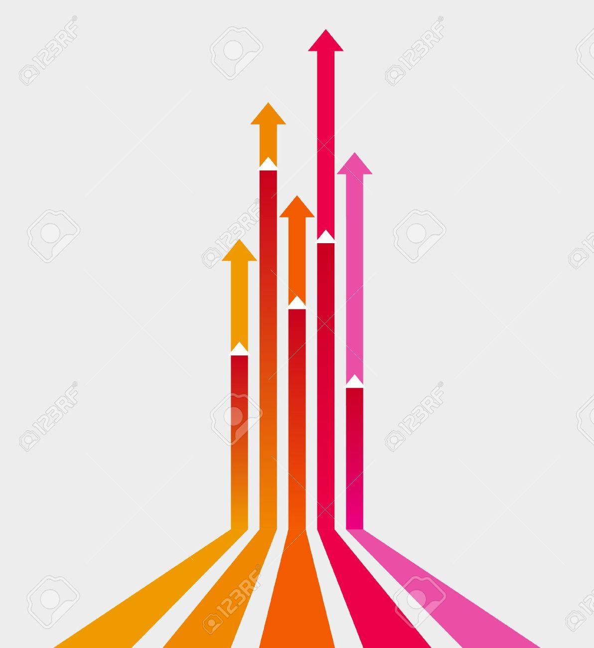 Colored arrows vector Stock Vector - 9757806
