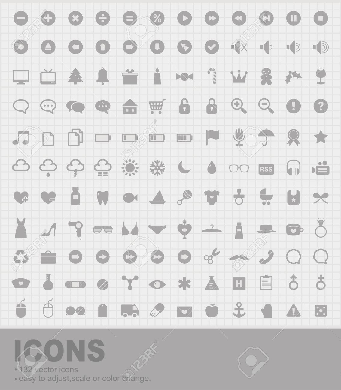 Pack of 132 Icons Stock Vector - 11218916