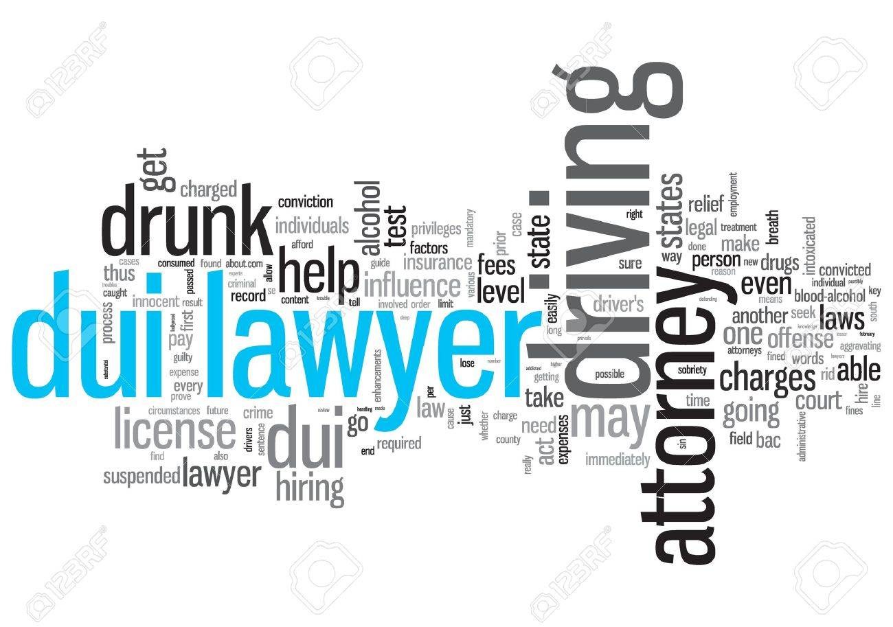 DUI Lawyer Concept Design Word Cloud on White Background Stock Photo - 17466253
