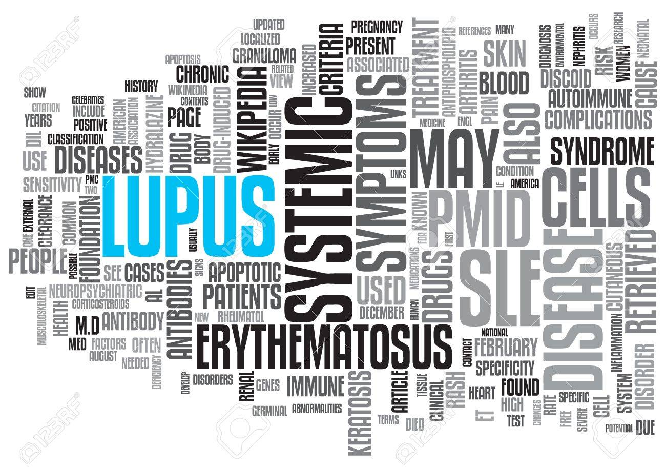 Lupus Concept Design Word Cloud on White Background Stock Photo - 17466274