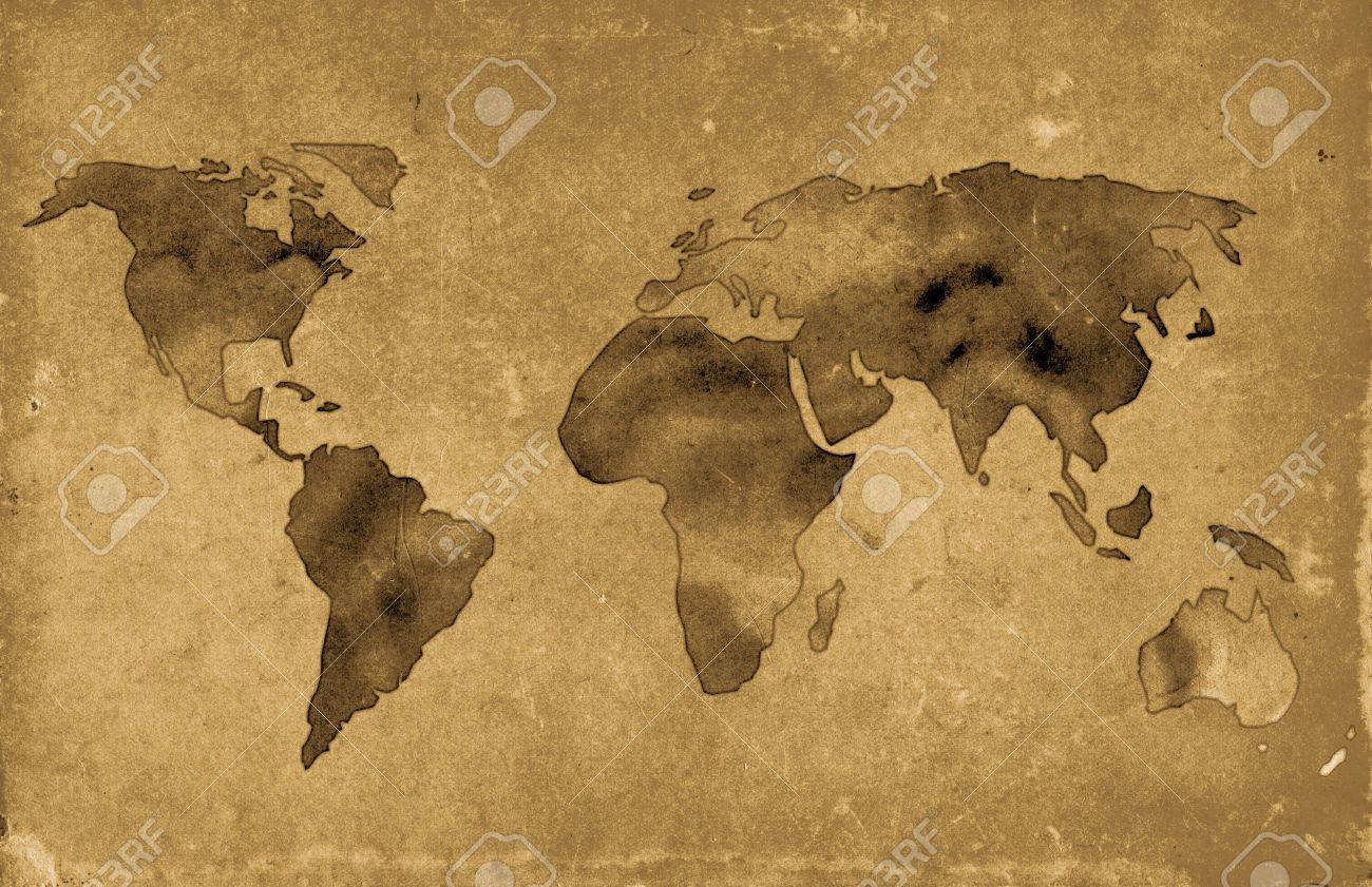 Illustration of vintage world map over grunge background stock photo illustration illustration of vintage world map over grunge background gumiabroncs Choice Image