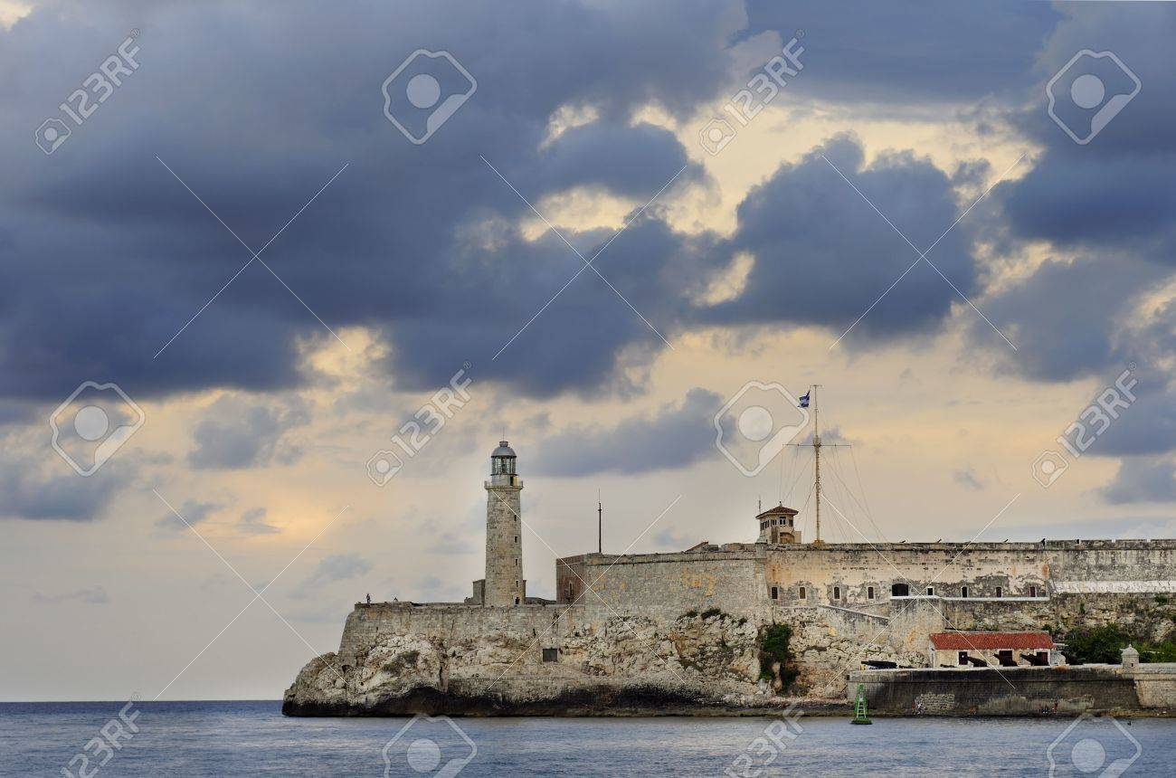 A view of el Morro fortress in Havana Bay entrance Stock Photo - 5398278