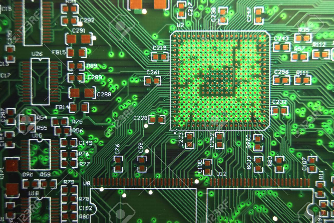 Printed Circuit Board Green Electronic Background Stock Photo Cheap Boards 50304534