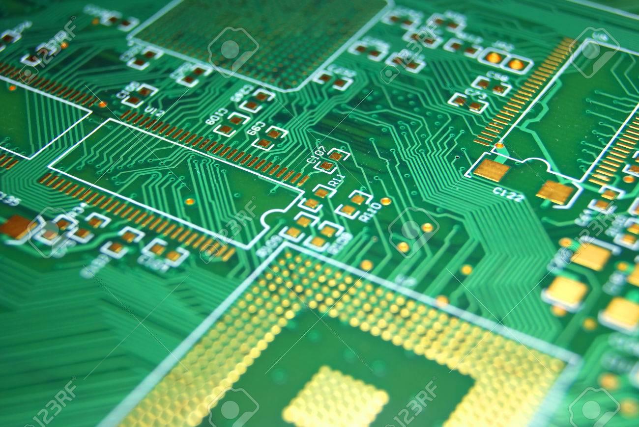 Circuito Impreso : Placa de circuito impreso fondo verde electrónica fotos retratos