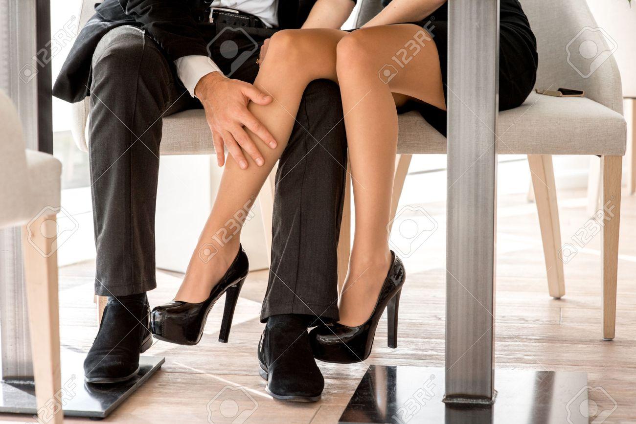 Flirting with legs